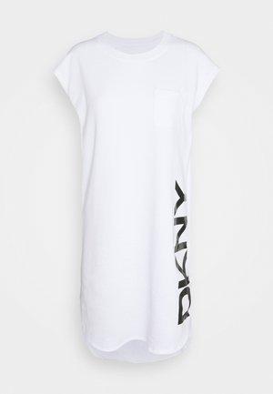 FOUNDATION LOGO DRESS - Day dress - white