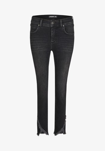 ORNELLA CUT' MIT GEFRANSTEN - Slim fit jeans - black denim