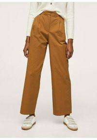 Mango - Trousers - medium brown - 0