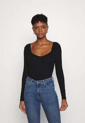 JENNIFER - Long sleeved top - black
