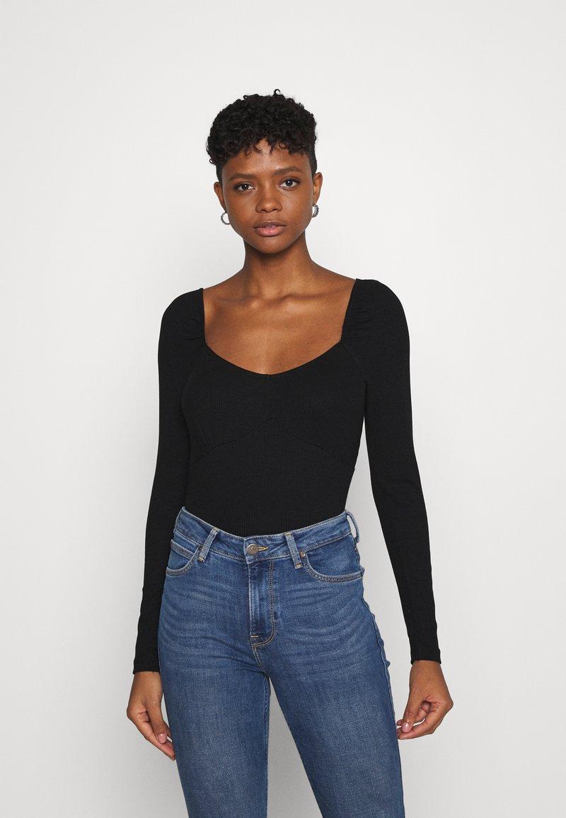 Gina Tricot - JENNIFER - Long sleeved top - black
