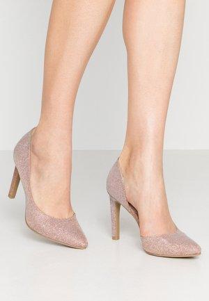 High heels - rose metallic