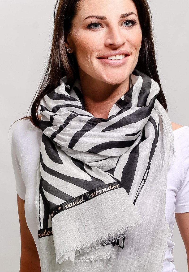 Fraas - Scarf - black/white