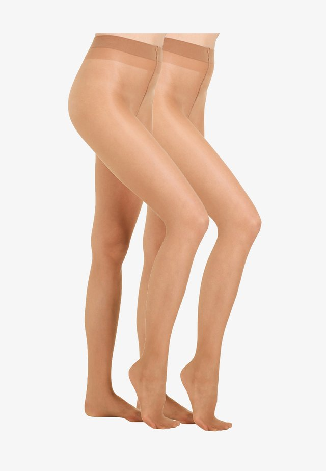20 DEN EVERYDAY 2 PACK - Tights - suntan