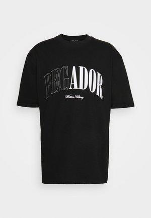 CALI OVERSIZED TEE UNISEX - T-shirt imprimé - black shadow/grey white