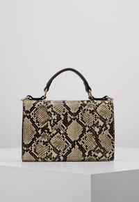 Dorothy Perkins - TOP HANDLE DOUBLE FLAP CROSSBODY SNAKE - Handbag - brown - 2