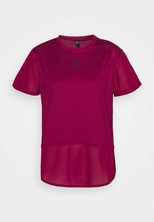 TEE - Print T-shirt - berry