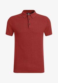 WE Fashion - MET STRUCTUUR - Poloshirt - red - 5