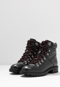 Simply Be - WIDE FIT LACE UP BOOT - Veterboots - black - 4