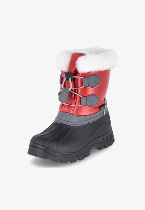 Winter boots - rot/schwarz/grau