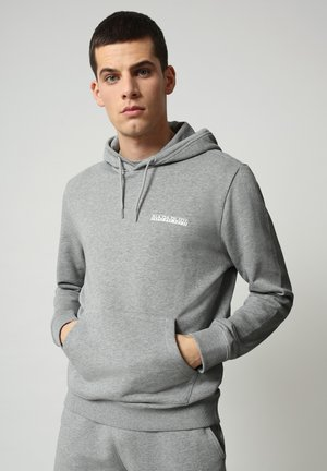 B-SURF HOOD - Hoodie - medium grey melange