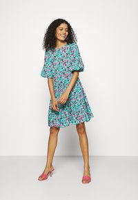 Closet - GATHERED TIERED DRESS - Day dress - turquoise - 1