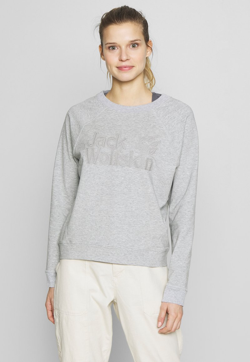 Jack Wolfskin - LOGO - Sweatshirt - light grey
