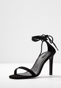 Nly by Nelly - SQUARE HEEL - High heeled sandals - black - 4