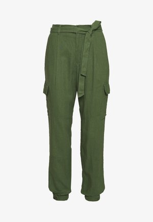 UTILITY RELAXED PANTS - Trousers - olive green