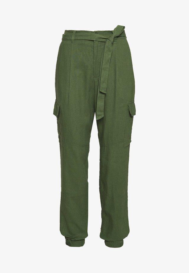 UTILITY RELAXED PANTS - Kangashousut - olive green