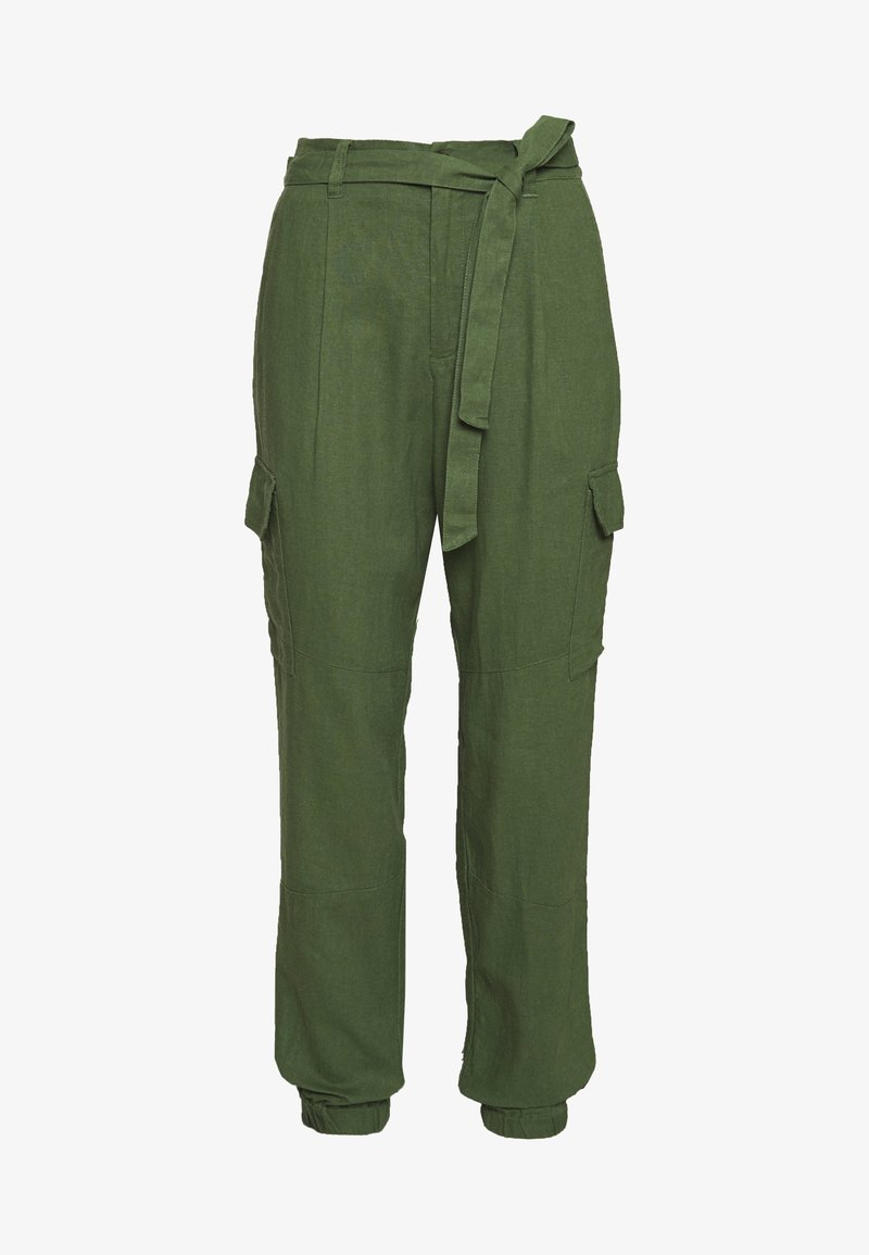 TOM TAILOR DENIM - UTILITY RELAXED PANTS - Trousers - olive green