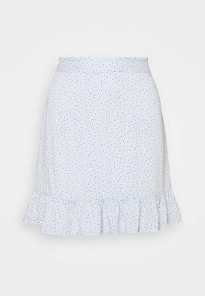 PCSILKE FRILL SKIRT - Mini skirts  - plein air