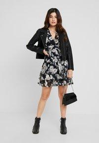 TFNC Petite - WINRY MINI - Day dress - black/white - 2