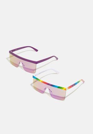 PRIDE SUNGLASSES UNISEX 2 PACK - Sunglasses - multicolor/lilac