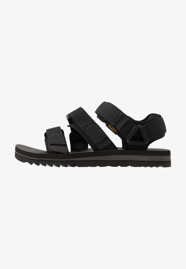 CROSS STRAP MENS - Walking sandals - black