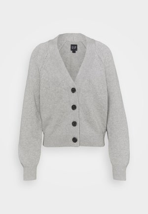 WIDE PLACKET SLOUCHY  - Strickjacke - light heather grey