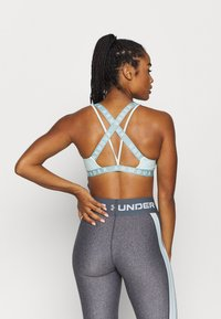 Under Armour - WORDMARK STRAPPY SPORTLETTE - Sports bra - seaglass blue - 2