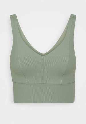 V NECK VESTLETTE - Sports bra - basil green