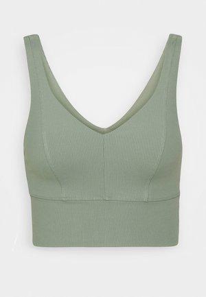 V NECK VESTLETTE - Sport BH - basil green