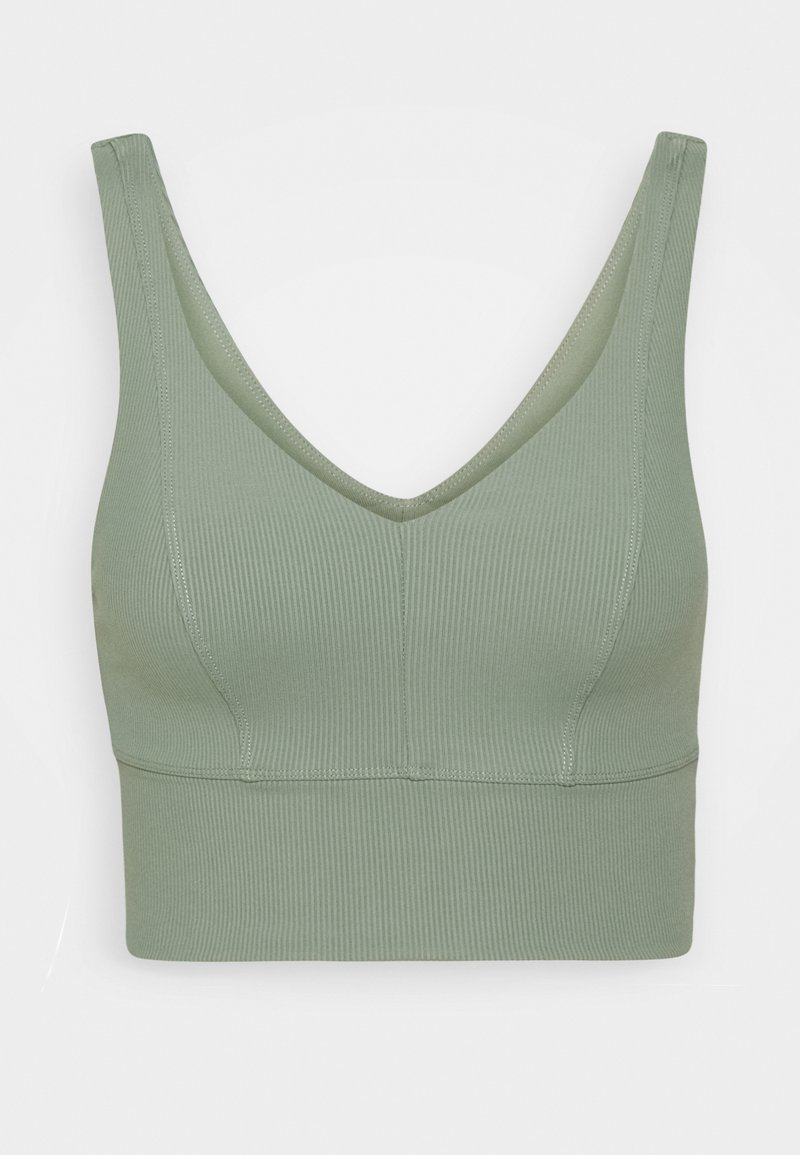 Cotton On Body - V NECK VESTLETTE - Sujetadores deportivos con sujeción ligera - basil green