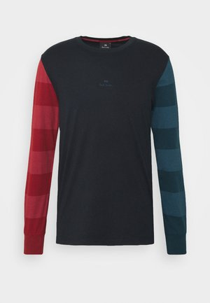 Long sleeved top - dark blue/red/green