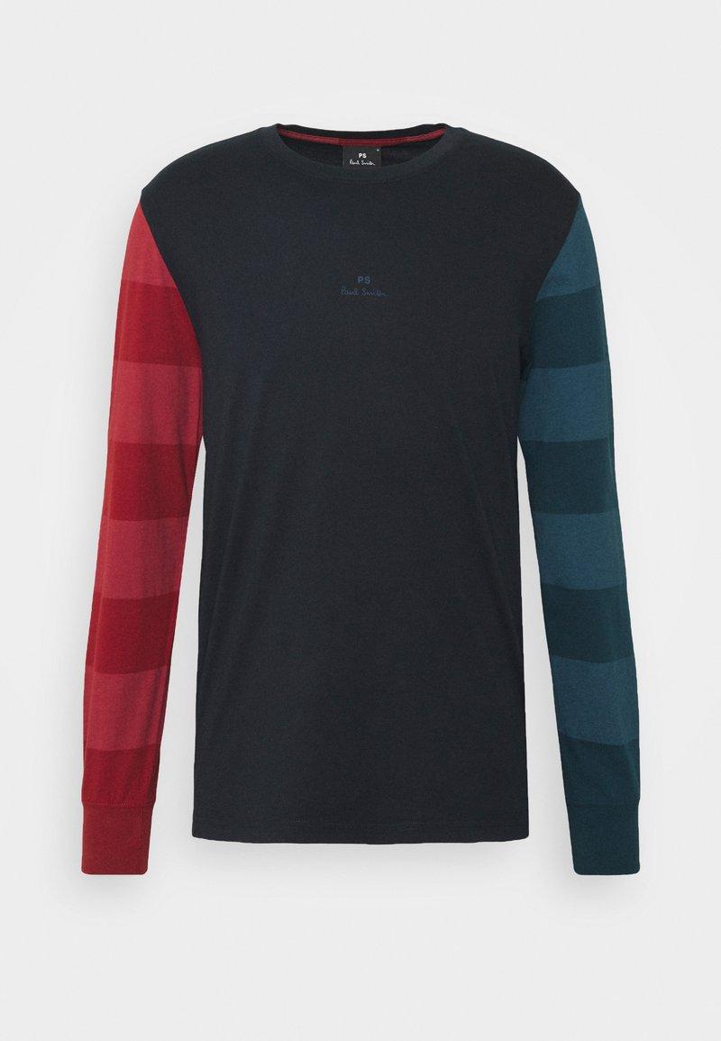 PS Paul Smith - Top sdlouhým rukávem - dark blue/red/green