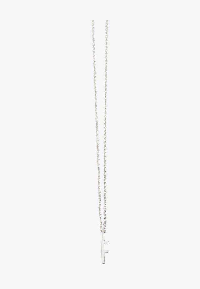 10MM A-Z CHARM WITH 45CM NECKLACE - SILVER - Necklace - silver