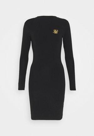 TAPE BODYCON DRESS - Denim dress - black