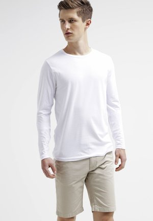 JJBASIC  - Topper langermet - optical white