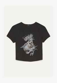 Bershka - T-shirt print - grey - 4