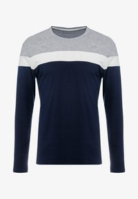 Pier One - Langærmede T-shirts - grey/dark blue - 3