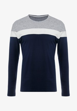 Langærmede T-shirts - grey/dark blue