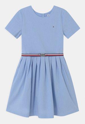 BOX PLEAT DRESS - Shirt dress - calm blue