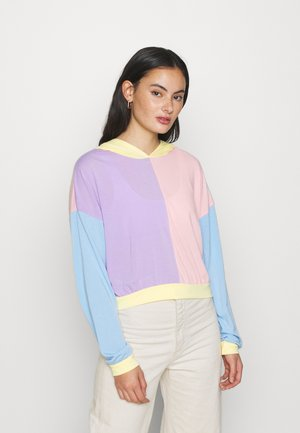 FOUR WAY COLOUR BLOCK OVER SIZE HOODIE - Hoodie - multi