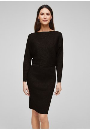 Shift dress - black melange