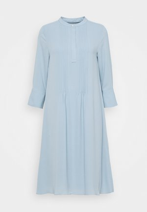 DRESS WITH PIN TUCKS - Shirt dress - dove blue