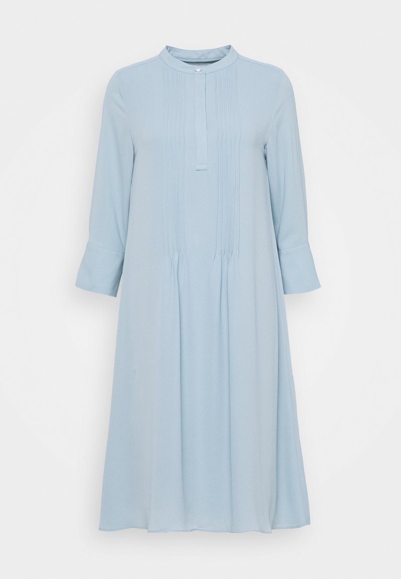 Rich & Royal - DRESS WITH PIN TUCKS - Shirt dress - dove blue