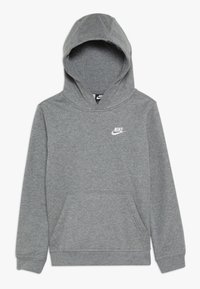 Nike Sportswear - HOODIE CLUB - Bluza z kapturem - carbon heather/white - 0