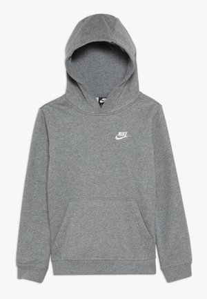 HOODIE CLUB - Bluza z kapturem - carbon heather/white
