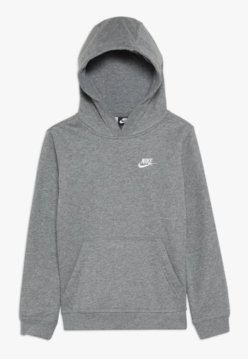 HOODIE CLUB - Jersey con capucha - carbon heather/white