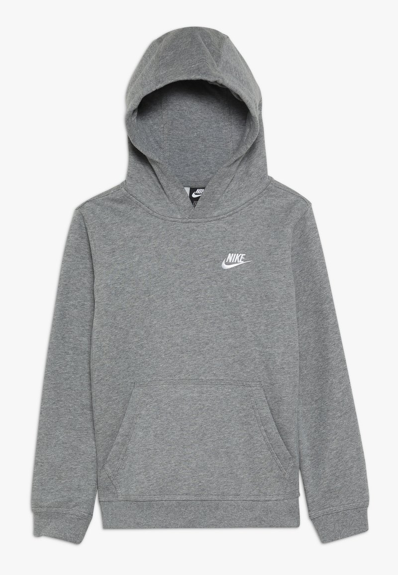 Nike Sportswear - HOODIE CLUB - Bluza z kapturem - carbon heather/white
