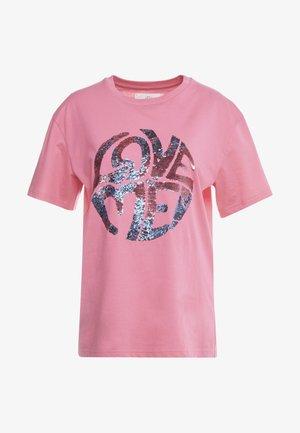 Print T-shirt - fucsia