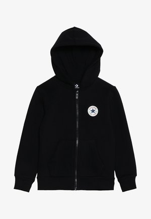 CHUCK PATCH FULL ZIP HOODIE  - Felpa aperta - black