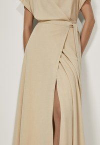 Massimo Dutti - KIMONO-MIT SCHLEIFE  - Sukienka z dżerseju - beige - 2